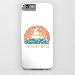 Tamarindo Beach Vintage Surfing TShirt Retro Surfing Shirt Surfer Gift Idea  iPhone Case