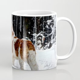 St Bernard in the snow Coffee Mug