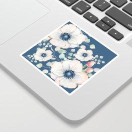 Summer Flowers Blue #society6 #buyart Sticker