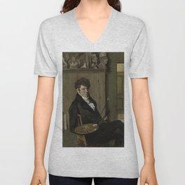 Self-portrait - Wouter Johannes van Troostwijk (1809) Unisex V-Neck