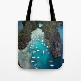 Island hopping in the Philippines Tote Bag