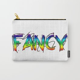 Colorful Rainbow FANCY Text Carry-All Pouch