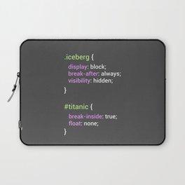 Iceberg CSS - Display block, visibility hidden Laptop Sleeve