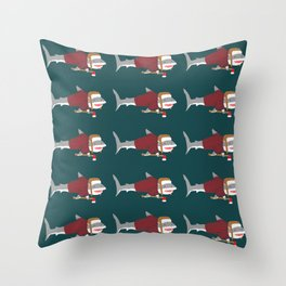 Shark LumberJack Throw Pillow