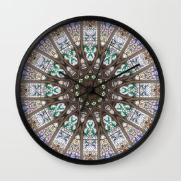 Glass Cathedral Medieval Builders Seven Wall Clock