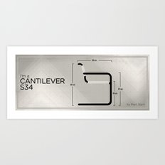 Chairs - A tribute to seats: I'm a Cantilever S34 (intro) Art Print