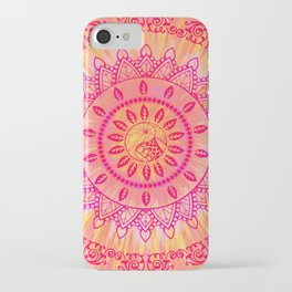 Sun Kissed Mandala Orange Pink iPhone Case