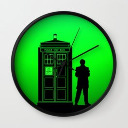 Tardis With The Second Doctor Wall Clock
