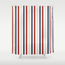 Primarily Pinstripes Shower Curtain
