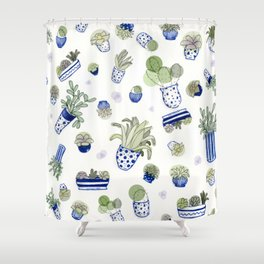 For the Love of Plants Shower Curtain