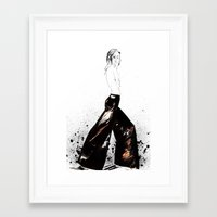 raven Framed Art Prints featuring Raven by Holly Sharpe