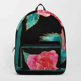 Roses on Silk Night Backpack
