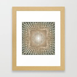 The Neverending Clothes Pin Chute Framed Art Print