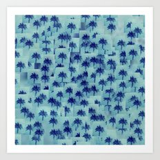 Palm party Art Print