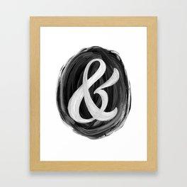 Thick Swirl Ampersand Black & White Framed Art Print