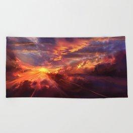 Red Radiance Beach Towel