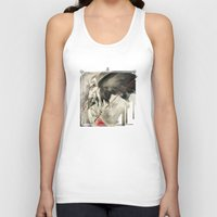 monster hunter Tank Tops featuring The Hunter by Mar del Valle