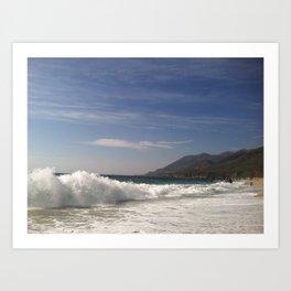 Waves Crashing at Big Sur Art Print