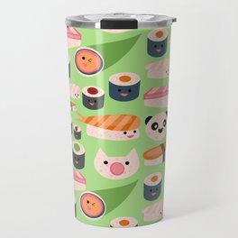 Kawaii sushi green Travel Mug