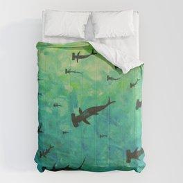 Every Week is Shark Week Comforters