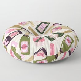 French Champagne Collection – Pink & Green Floor Pillow