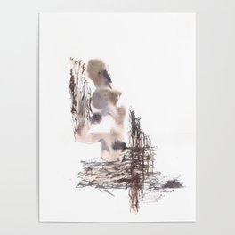 Judgement- 151124  Abstract Watercolour Poster
