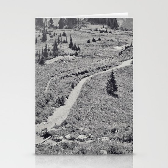 Trail B&W Stationery Cards