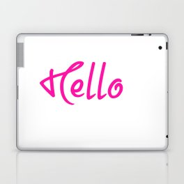 Hello Pink And White Laptop & iPad Skin