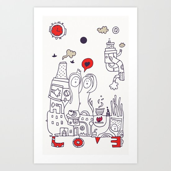 Time for Love Art Print