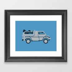 Back to The Future DeloreVan Framed Art Print