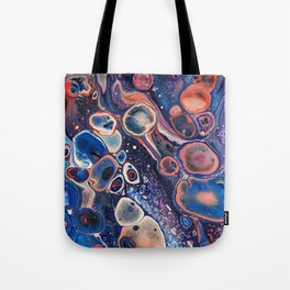 Resurrection Blue Purple Red Fluid Abstract Tote Bag