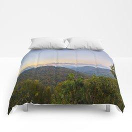 Sleepy valley town Comforters