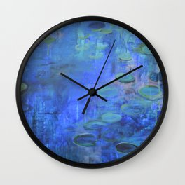 Waterlily Abstraction Wall Clock