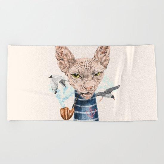 Sphynx Cat II Beach Towel