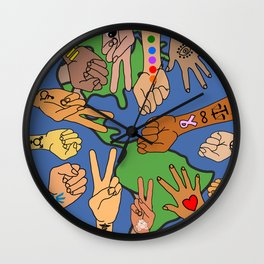 Save the Planet Earth Day Wall Clock