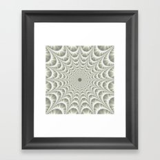 Quilted Web in White Framed Art Print