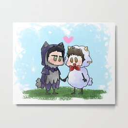 Sheep and Wolf Metal Print