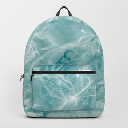 Clear blue water | Colorful ocean photography print | Turquoise sea Backpack