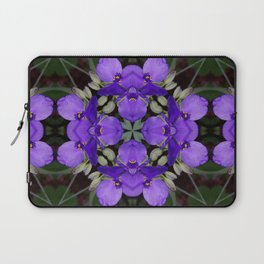 Summer blue mandala - Spiderwort (Tradescantia) 9146 k14 Laptop Sleeve