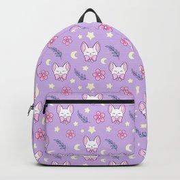 Sakura Cat // Purple Backpack