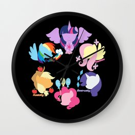 Mane six 2 Wall Clock