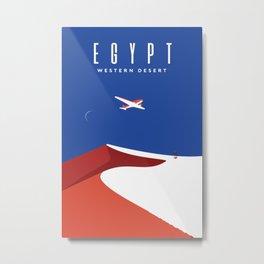 Egypt Desert travel poster Metal Print