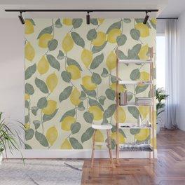Citrus Pattern Wall Mural