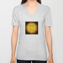 'Dandelion Fire' with Hans Christian Andersen 'Just living..' quotation Unisex V-Neck