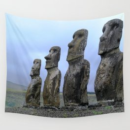 Moais in Easter Island, Chile. Wall Tapestry