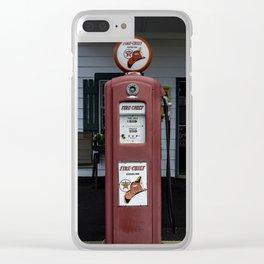 Fire Chief Gas Pump Clear iPhone Case