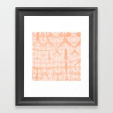 Tie Dye 2 Peach Framed Art Print