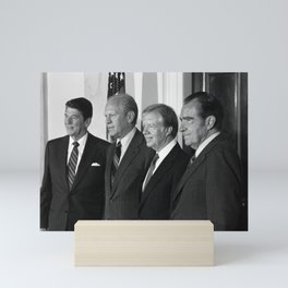 Four American Presidents Posing Together - 1981 Mini Art Print