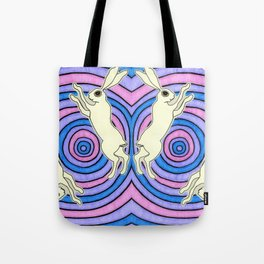 Double Hare Tote Bag