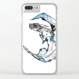 Dragon Blue Clear iPhone Case